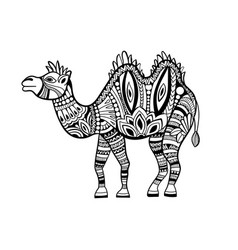 camel in zentangle style vector image vector image