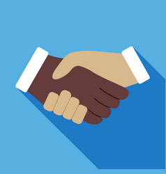 handshake icon business concept vector image vector image