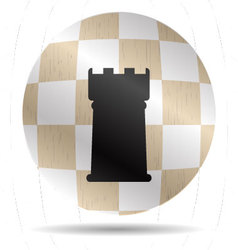 Icon chess rook vector image vector image