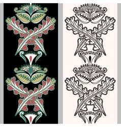Seamless vertical pattern with Indonesian motifs vector image vector image