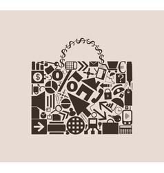 portfolio of business icons vector image