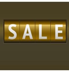 Sale mechanical scoreboard vector image