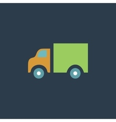 Truck flat icon vector image vector image