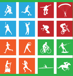 16 simple sport icon vector image