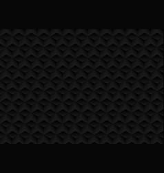 3d realistic geometric symmetry black cubes vector image