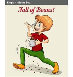 A man full of beans vector