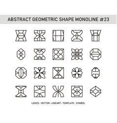 abstract geometric shape monoline 23 vector image