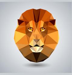 Abstract polygonal tirangle animal lion hipster vector
