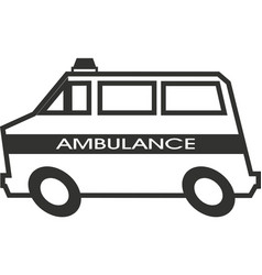 ambulance car ambulance vehicle vector image
