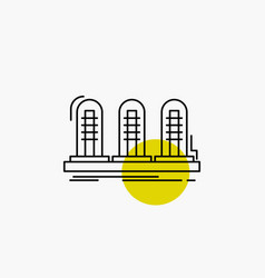 amplifier analog lamp sound tube line icon vector image