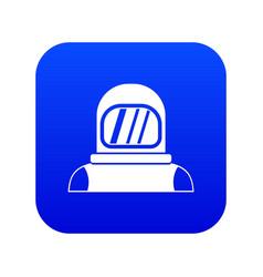 Astronaut icon digital blue vector
