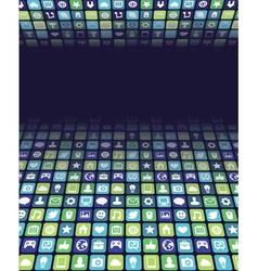 Background with app and internet icons vector