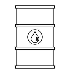 Barrel oil icon outline style vector image