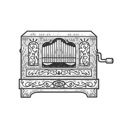 Barrel organ sketch vector