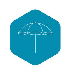 Beach umbrella icon outline style vector