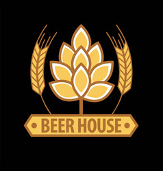 beer house emblem template vector image