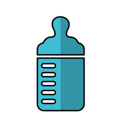 bottle milk baby icon vector image