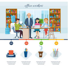 business working in office with colleagues vector image