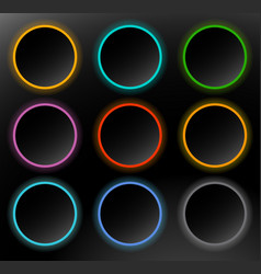 circle buttons badges button backgrounds with vector image