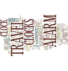 Collectors travel alarm clocks text vector
