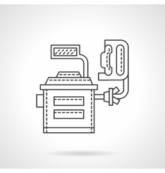 Computer wheels adjustment flat line icon vector image