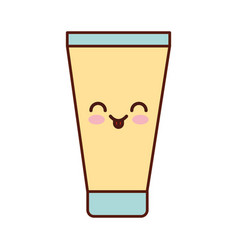 Cream spa kawaii character vector