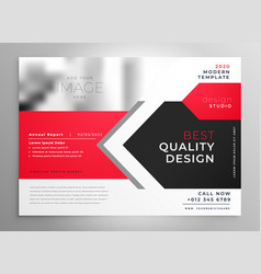 Creative business flyer in red black design vector