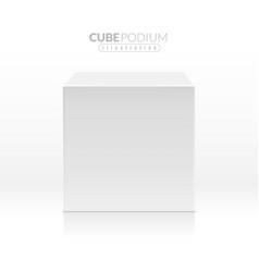 cube podium realistic empty block white box in vector image