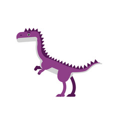 cute cartoon purple dinosaur prehistoric and vector image