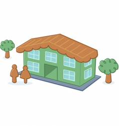 Cute toy dolls house illustration vector
