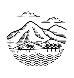Design island vector