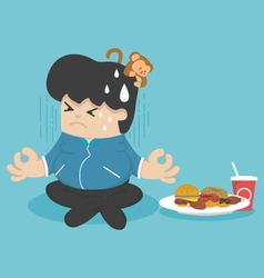 Dieting to lose weight vector