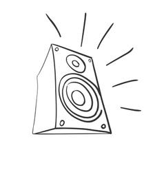 Doodle speaker vector