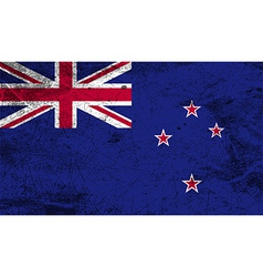 Flag of New Zeland with old texture vector image