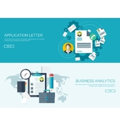 Flat business background vector image
