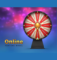 Fortune wheel background lucky money risk game vector