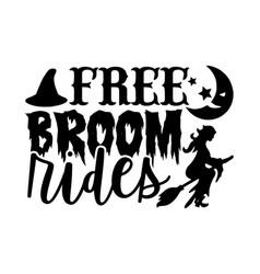 free broom rides vector image