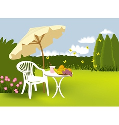 Garden relaxing vector