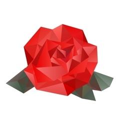 Geometric rose vector image
