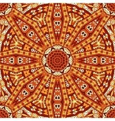 Geometric seamless indian autumn pattern vector image
