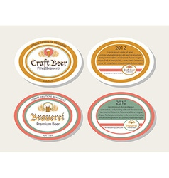German brew house beer logotypes vector image