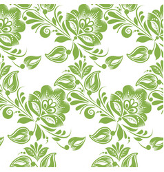 Greenery floral leaves seamless pattern background vector