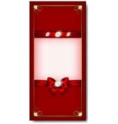 Greeting card red vector