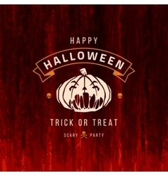 Halloween Background and Pumpkin vector