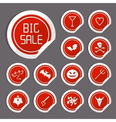 Halloween Sale Stickers vector image