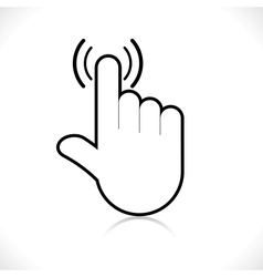hand icon pointer vector image