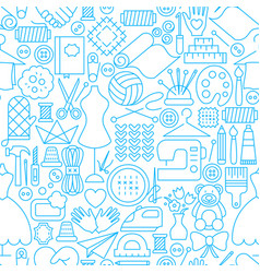 handmade line seamless pattern vector image