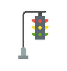 Hanging traffic light flat icon vector