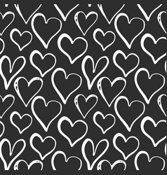 Heart symbol seamless pattern hand drawn sketch vector