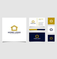 Home home logo design template with business vector